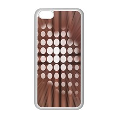 Technical Background With Circles And A Burst Of Color Apple iPhone 5C Seamless Case (White)