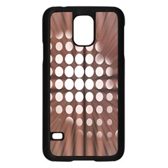 Technical Background With Circles And A Burst Of Color Samsung Galaxy S5 Case (Black)