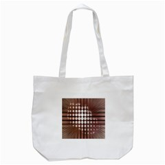 Technical Background With Circles And A Burst Of Color Tote Bag (White)