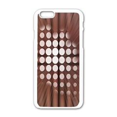 Technical Background With Circles And A Burst Of Color Apple Iphone 6/6s White Enamel Case