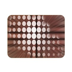 Technical Background With Circles And A Burst Of Color Double Sided Flano Blanket (Mini)