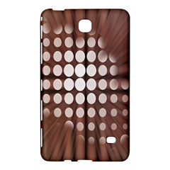 Technical Background With Circles And A Burst Of Color Samsung Galaxy Tab 4 (7 ) Hardshell Case
