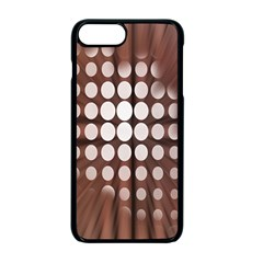 Technical Background With Circles And A Burst Of Color Apple Iphone 7 Plus Seamless Case (black)