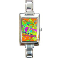 Background With Colorful Triangles Rectangle Italian Charm Watch