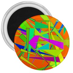 Background With Colorful Triangles 3  Magnets