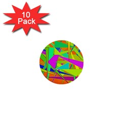 Background With Colorful Triangles 1  Mini Buttons (10 pack)