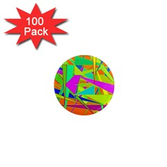 Background With Colorful Triangles 1  Mini Magnets (100 Pack)