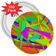 Background With Colorful Triangles 3  Buttons (100 Pack)