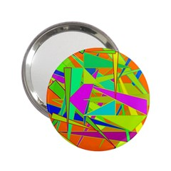 Background With Colorful Triangles 2 25  Handbag Mirrors