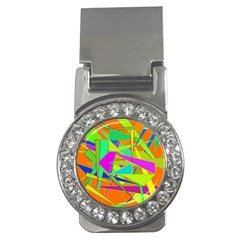 Background With Colorful Triangles Money Clips (CZ)