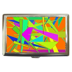 Background With Colorful Triangles Cigarette Money Cases
