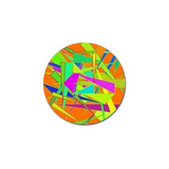 Background With Colorful Triangles Golf Ball Marker (4 Pack)