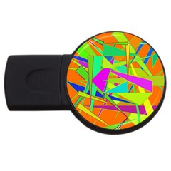 Background With Colorful Triangles Usb Flash Drive Round (2 Gb)