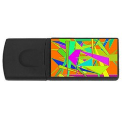 Background With Colorful Triangles USB Flash Drive Rectangular (2 GB)