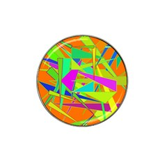 Background With Colorful Triangles Hat Clip Ball Marker (10 Pack)