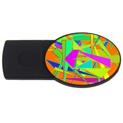 Background With Colorful Triangles USB Flash Drive Oval (4 GB)