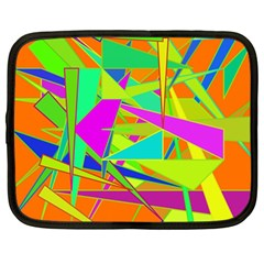 Background With Colorful Triangles Netbook Case (large)