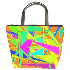Background With Colorful Triangles Bucket Bags