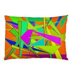 Background With Colorful Triangles Pillow Case