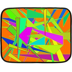 Background With Colorful Triangles Double Sided Fleece Blanket (mini)