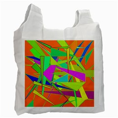 Background With Colorful Triangles Recycle Bag (two Side)