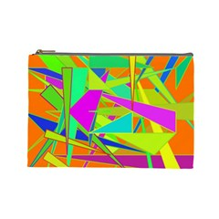 Background With Colorful Triangles Cosmetic Bag (large)