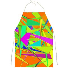 Background With Colorful Triangles Full Print Aprons