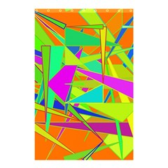 Background With Colorful Triangles Shower Curtain 48  x 72  (Small)