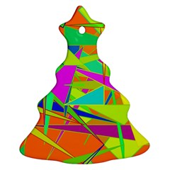 Background With Colorful Triangles Ornament (christmas Tree)