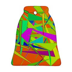 Background With Colorful Triangles Ornament (Bell)