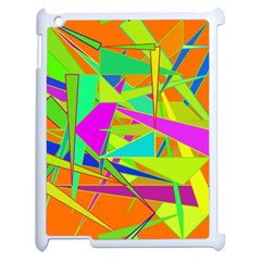 Background With Colorful Triangles Apple Ipad 2 Case (white)