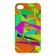 Background With Colorful Triangles Apple Iphone 4/4s Premium Hardshell Case