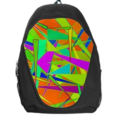 Background With Colorful Triangles Backpack Bag