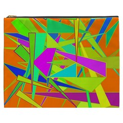 Background With Colorful Triangles Cosmetic Bag (xxxl)