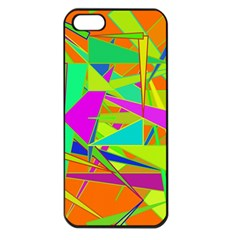 Background With Colorful Triangles Apple iPhone 5 Seamless Case (Black)
