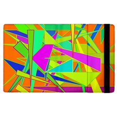 Background With Colorful Triangles Apple iPad 2 Flip Case