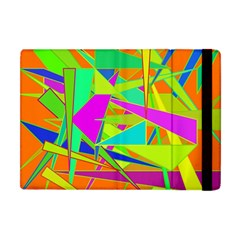 Background With Colorful Triangles Apple iPad Mini Flip Case