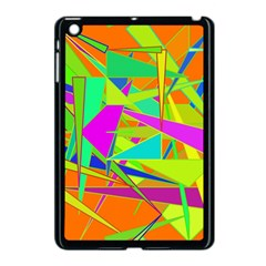 Background With Colorful Triangles Apple iPad Mini Case (Black)