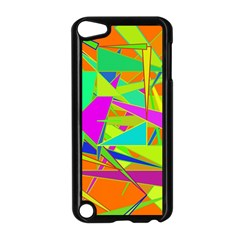 Background With Colorful Triangles Apple iPod Touch 5 Case (Black)