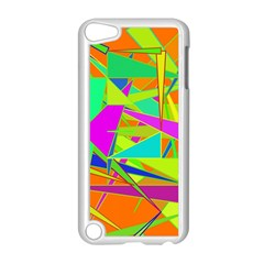 Background With Colorful Triangles Apple iPod Touch 5 Case (White)