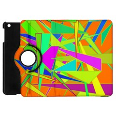 Background With Colorful Triangles Apple Ipad Mini Flip 360 Case