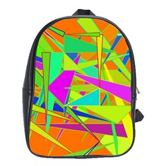 Background With Colorful Triangles School Bags (XL)
