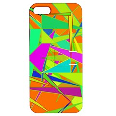 Background With Colorful Triangles Apple iPhone 5 Hardshell Case with Stand