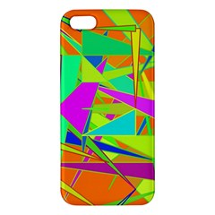Background With Colorful Triangles Apple iPhone 5 Premium Hardshell Case