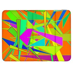 Background With Colorful Triangles Samsung Galaxy Tab 7  P1000 Flip Case