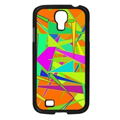 Background With Colorful Triangles Samsung Galaxy S4 I9500/ I9505 Case (black)