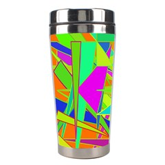 Background With Colorful Triangles Stainless Steel Travel Tumblers