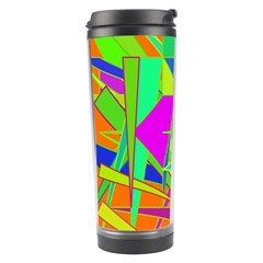 Background With Colorful Triangles Travel Tumbler