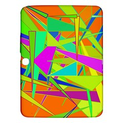 Background With Colorful Triangles Samsung Galaxy Tab 3 (10.1 ) P5200 Hardshell Case