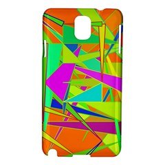 Background With Colorful Triangles Samsung Galaxy Note 3 N9005 Hardshell Case